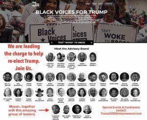 Mason Weaver Advisory Board for Black Voices For Trump